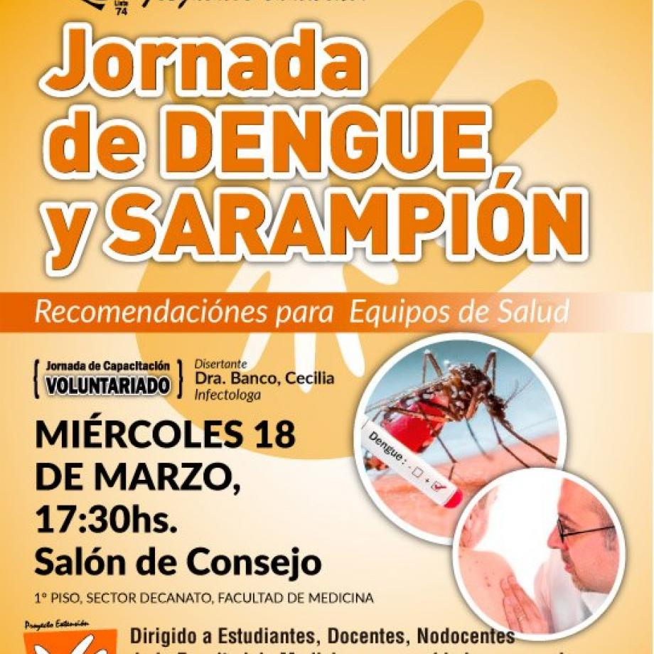jornada de dengue y sarampion